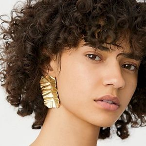 Free People Foil Stud Earrings NWT